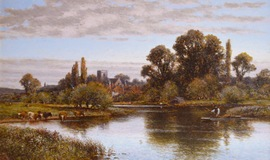 Shepperton on Thames with St Nicholas Church