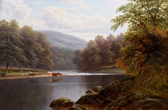 On the Wharfe, Bolton Woods, Yorkshire