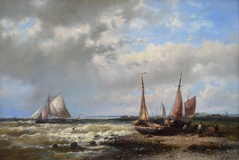 Fishing Boats off the Dutch Coast